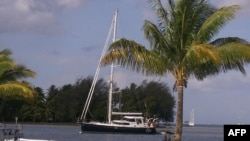 This is a file photo of the yacht where Somali pirates killed four Americans on board in February 2011.