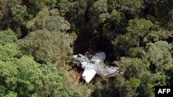Ảnh chụp chiếc máy bay bị nạn do toán cứu hộ Indonesia cung cấp