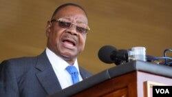 President Mutharika. (Lameck Masina/VOA)