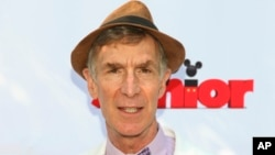 "Bill Nye attends the Disney Junior and XPRIZE launch of ""Miles from Tomorrowland: Space Missions"" at the New York Hall of Science on July 16, 2015, in New York."