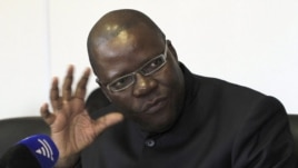 Zimbabwe's Finance Minister Tendai Biti addresses a news conference in Harare, Zimbabwe. (File)