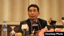 UNFC ေျပာခြင့္ရသူ ခူဦးရယ္ ( ဓါတ္ပံု-Htet Aung Hkant)