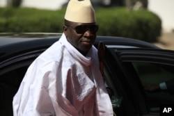 FILE- Gambia President Yahya Jammeh.