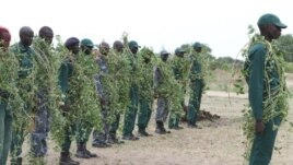 A class of 29 police officers trained to respond to cattle raids graduates in Bor, South Sudan on Thursday, April 18, 2013.