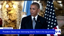 Obama Vows Top Priority is Defeating Islamic State