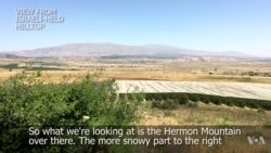 Hilltop View of Syrian Rebel Territory From Israeli-occupied Golan Heights