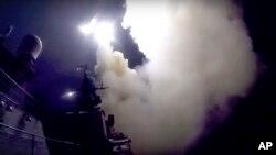 Hazar Denizi'ndeki Rus gemilerinden 7 Ekim'de atılan füzeler (Kaynak: Rusya Savunma Bakanlığı)