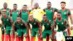 L'équipe du Burundi lors d'un match entre le Burundi et la Guinée, Egypte, le 30 juin 2019.
