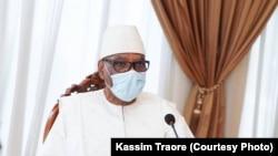 Président Ibrahim Boubacar Keïta ya Mali na Bamako, 31 juillet 2020.
