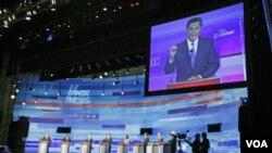 El ex gobernador Romney logró reposicionarse en los últimos días frente a su principal contendiente, Rick Perry.