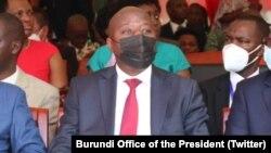 Umushikiranganji wa mbere w'u Rwanda Edouard Ngirente mu birori byo guhimbaza imyaka 59 iheze Uburundi bwikukiye