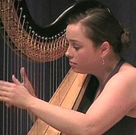 Maryanne Meyer, 28, was one of 39 harpists from 19 countries competing in the USA International Harp Competition.