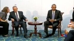 2015-04-12 美國之音視頻新聞:美國與古巴領導人舉行歷史性會談