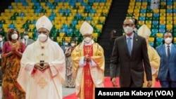 Kardinali Antoine Kambanda kumwe na Perezida w'u Rwanda Paul Kagame
