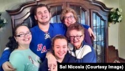 Sal Nicosia with his mom, Caroline, and family members.