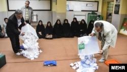Brojanje glasova, Iran februar 2016.
