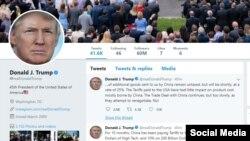 Tổng thống Donald Trump hôm Chủ nhật 5/5 đăng trên Twitter rằng ông sẽ nâng thuế áp lên 200 tỷ đôla hàng Trung Quốc từ 10% lên 25%, bắt đầu từ thứ Sáu tuần này.