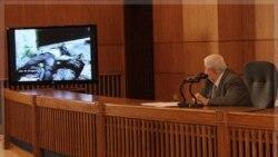 ولید معلم تصویرهایی از پیکر خونین و در هم کوبیده افراد را که به گفته وی به دست گروه های مسلحی به قتل رسیده اند، نشان می دهد. ۲۸ نوامبر ۲۰۱۱