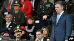 """""""La paix est proche"""" a annoncé sur Twitter le le président colombien Juan Manuel Santos."""