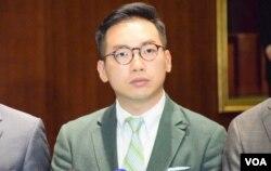 香港公民黨黨魁、立法會議員楊岳橋。(美國之音湯惠芸)
