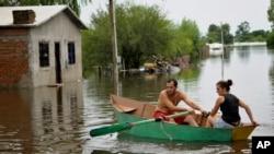 En 2010 una fuerte inundación también afectó localidades cerca a la capital de Uruguay, Montevideo.