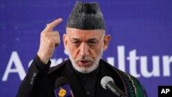 FILE - Afghan President Hamid Karzai.