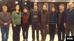 Endamên Meclîsa Gel ya Rojavayê Kurdistanê ligel Leyla Zana û Osman Baydemîr