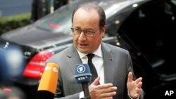 法国总统奥朗德(2015年10月15日 资料照片)