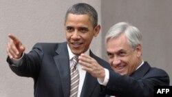Prezidentlar Barak Obama va Sebastian Pinera, Santiago, Chili, 21 mart 2011