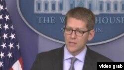 白宫发言人卡尼忧叙利亚动荡波及周边安全(VOA视频截图)