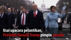 Parade Usai Pelantikan Presiden Donald Trump
