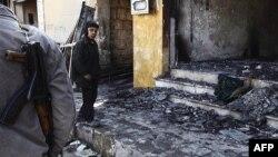 Uništeni domovi u sirijskom gradu Idlibu