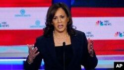 La candidata a la nominación presidencial demócrata Kamala Harris, ha visto aumentar su popularidad en las encuestas tras el primer debate presidencial.