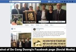 Trang Facebook của nhà báo độc lập Đỗ Công Đương.