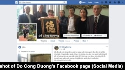 Trang Facebook cá nhân của nhà hoạt động truyền thông độc lập Đỗ Công Đương