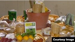 Agricultural produce displayed at the Harare Agricultural Show