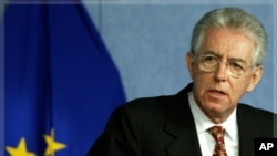 Waziri mkuu mteule wa Italy Mario Monti.