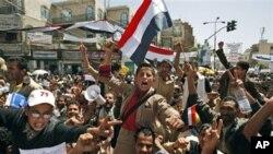 也门反政府示威者要求萨利赫总统辞职