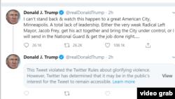 Tvit predsednika Donalda Trampa je sakriven od najšire javnosti, ali korisnici mogu da ga pogledaju ako žele