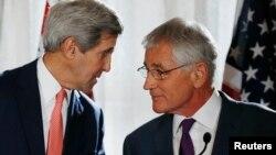 Ngoại trưởng Kerry và Bộ trưởng Quốc phòng Mỹ Chuck Hagel.