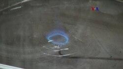 Flama azul danzante reduce contaminación