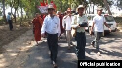 Kyaw Ko Ko, head of the All Burma Federation of Student Unions (ABFSU) (Left)