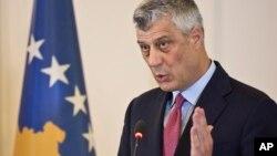 Predsednik Kosova Hašim Tači na konferenciji za novinare u Prištini, 8. mart 2017.