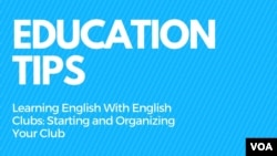 Education Tips - English Clubs PART 1