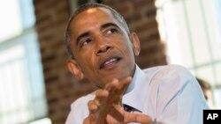 美國總統奧巴馬一月15日在訪問巴爾的摩期間講及他正推動的讓聯邦僱員享有六個星期的帶薪產假。