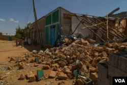 FILE - A house is destroyed during one of the battles fought for the control of the town of Hawzen, Tigray, in Ethiopia, on June 6, 2021. (VOA/Yan Boechat)