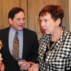 O B. Wilkinson με την Mary Ellen Lane