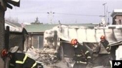북한의 포사격으로 파괴된 민간주택