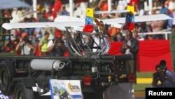 Un drone venezolano es mostrado durante el desfile militar de la independencia, el 5 de julio, en Caracas. El otrora combatido militarismo y armamentismo hoy es abrazado por el Foro de Sao Paulo.