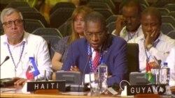 Diskou Chanselye Ayisyen an, Antonio Rodrigue nan 47 Asanble Jeneral OEA a nan Cancun, Meksik